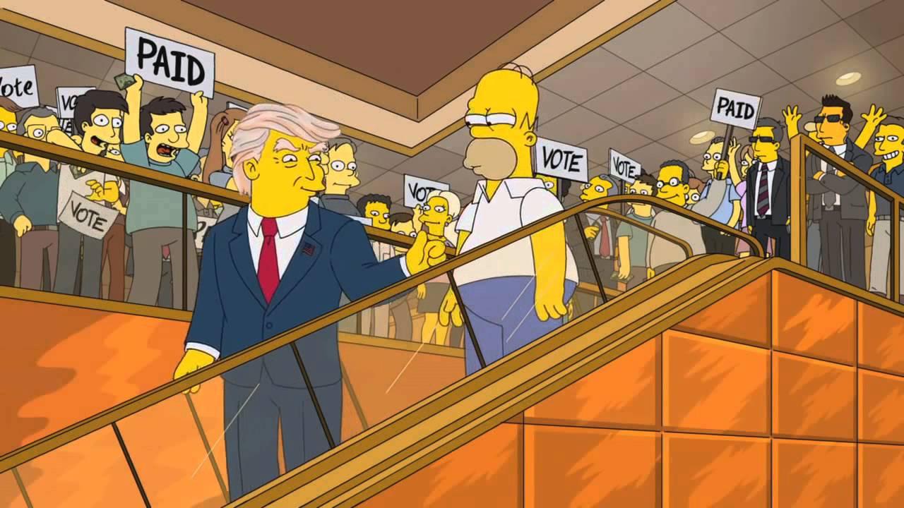 Donald Trump si candida alle presidenziali nei Simpson